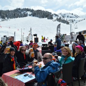 Lunch on the slopes