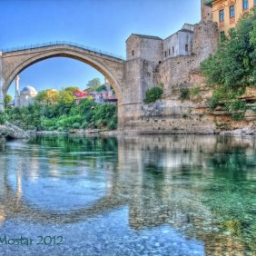 23296359 - bridge in mostar