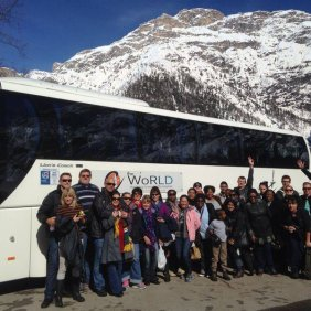 bus-in-Italian-dolomites