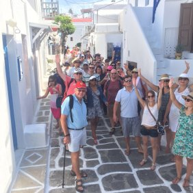 Group in Mykonos