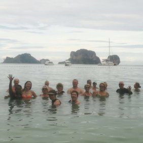 group in sea