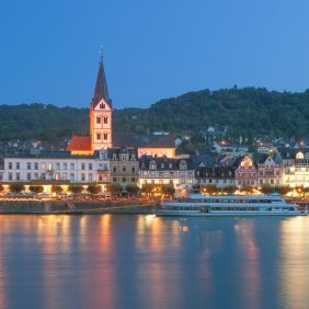 boppard at night