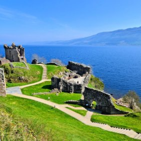 28964908 - ruins of urquhart castle along loch ness, scotland