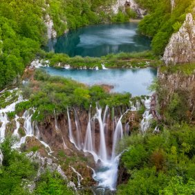 35456218 - breathtaking view of waterfalls in the plitvice