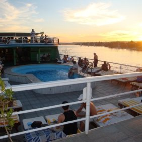 sunset on nile cruise