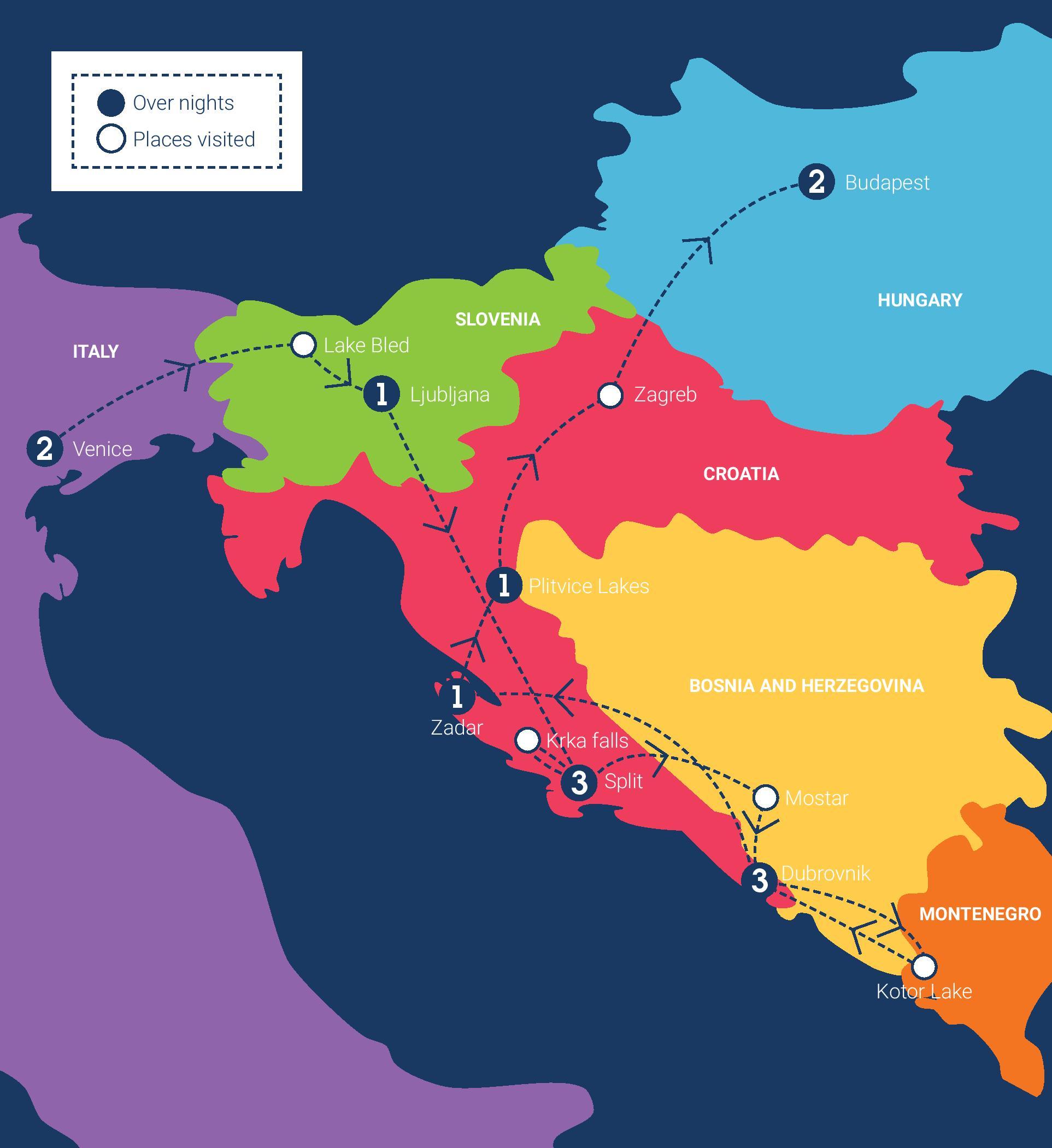 Croatia european tour eastern europe trip june 2017 ctheworld ctheworld europe mapcroatia page 001 gumiabroncs Images