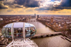 37253977 - england, london, london eye and cityscape