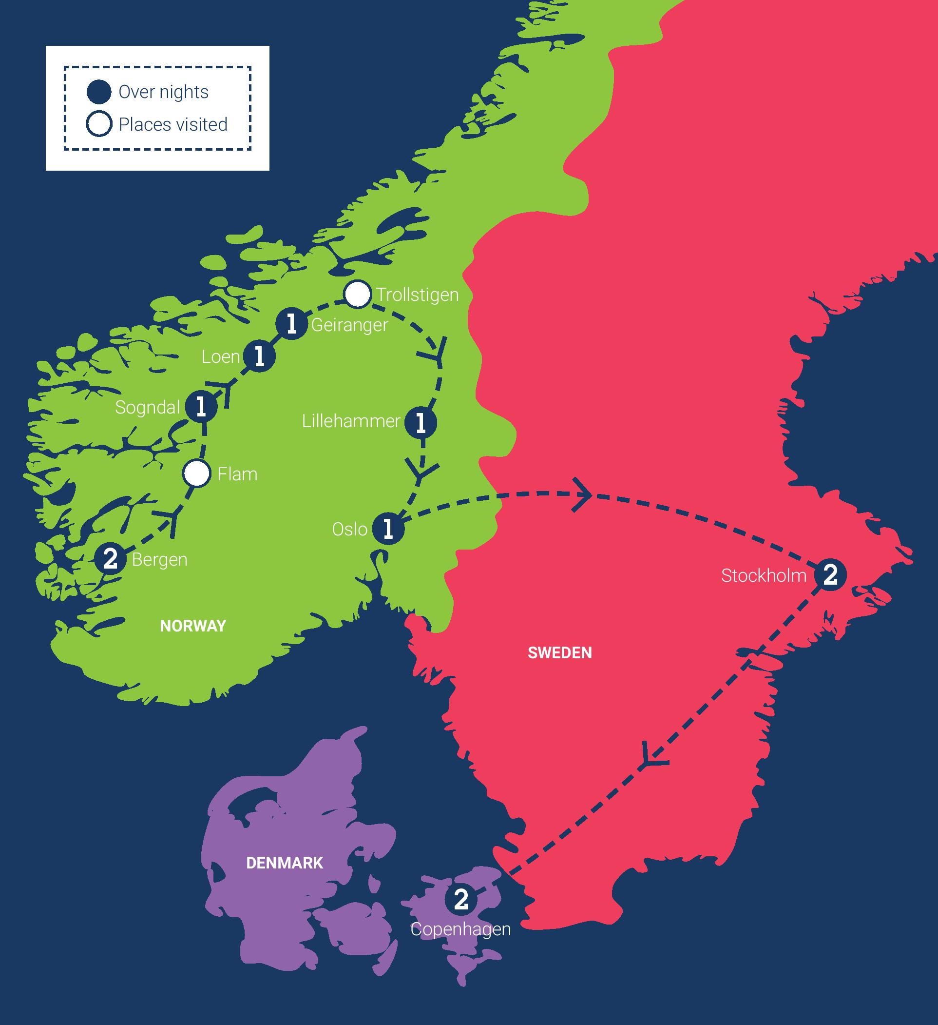 May Scandinavia Tour C The World - Europe map scandinavia