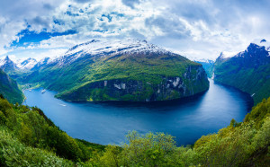 geiranger fjord, beautiful nature norway