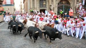 pamplona-spain-running-bulls